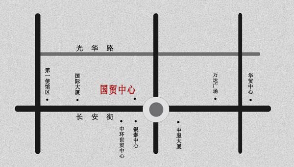 贸中心公交图
